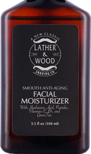 Lather & Wood Smooth Anti-Aging Facial Moisturizer for Men