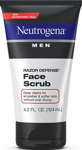 best exfoliating face scrubs for men's dry skin